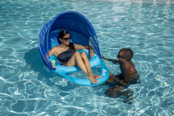 New pool flotation technology inflates three times faster.